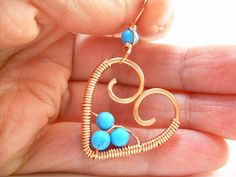 Wire Wrapped Jewelry Handmade Wire Heart by KiawahCollection, $16.02