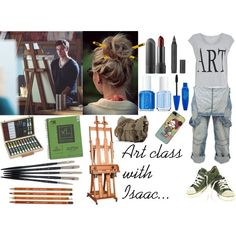 Art class with Isaac... by crazylucidee on Polyvore featuring мода, Twist…