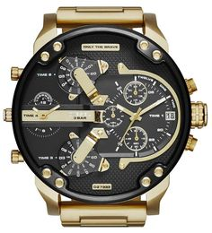 DIESEL Men s Mr.Daddy 2.0 Gold Chronograph Stainless Steel Analog Watch DZ7333