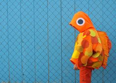 Make a Goldfish costume from a sweatshirt and felt, on MADE