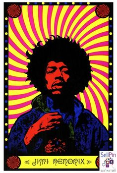 SellPin.com: Pins for Sale by Owner: This rare Jimi Hendrix Poster measures 27 x 40 inches.Of all Hendrix posters, this is the most psychedelic (1967). $29.99