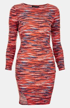 Topshop Stripe Notched Body-Con Dress $64