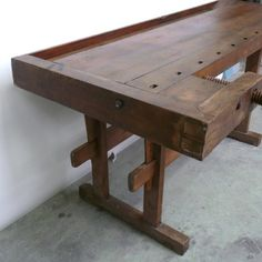 Vintage Wood Workbench, 1930s 9
