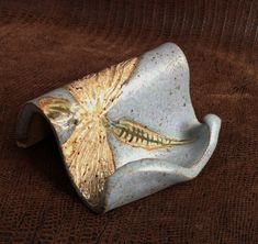 Business Card Holder with DRAGONFLY Stoneware by LisaMelitaArt, $15.00