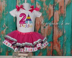 Check out this item in my Etsy shop https://www.etsy.com/listing/255853442/camping-birthday-tutu-and-shirt-glam