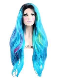 Best Natural Human Hair Wigs and Synthetic Wigs - Powder Room D Synthetic Lace Front Wigs, Synthetic Wigs, Powder Room D, Blue Lace Front Wig, Drag Wigs, Hair Shades, One Hair, Light Hair, Wig Hairstyles