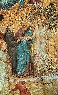 affresco    Parente di Giotto Sposalizio di San Francesco con la Povertà, particolare, 1316-1318