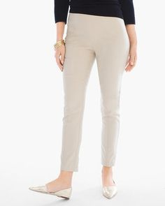 So Slimming Brigitte Ankle Pants. I have these pants in all colors. They're great when new, but shrink with washing. A smidge too tight around the calves which makes them creep up the legs.