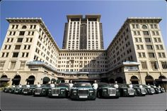 The Peninsula, Hong Kong - definitely worth splurging for the custom built Rolls Royce pick up at the airport.  Something I will never forget!