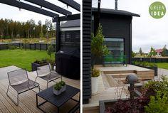 Pihasuunnittelu | GREEN IDEA | Oulu, Helsinki, Rovaniemi, Turku, Tampere, Kuopio Beltane, Windy Day, Helsinki, Paths, Terrace, Lawn, Outdoors, Garden, Outdoor Decor