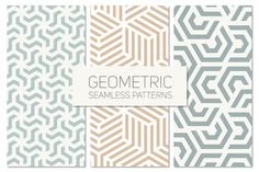 Geometric Seamless Patterns Set 4 by Curly_Pat on Creative Market Business Illustration, Pencil Illustration, Vector Pattern, Pattern Design, Graphic Patterns, Graphic Design, Origami, Seamless Background, Pattern Background