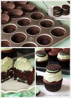 chocolate mint oreo cupcake recipe