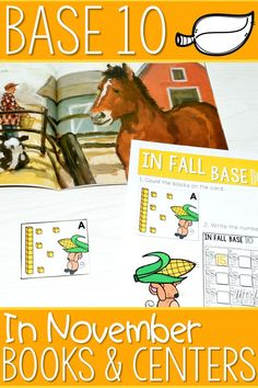 Base 10 math is a perfect math center for fall. Kindergarten students will love the book connection with In November by Cynthia Rylant. Additional activities and worksheets will teach skills and engage your kids! Great for homeschooling parents too!