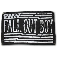 Split Flag Wall Flag - Fall Out Boy. I got this flag at my FOB concert.