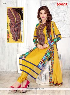 Link: http://www.sonicasarees.com/salwar-suits?catalog=3839 Price Rs 2110/- Shipped worldwide within 7 days. Lowest price guaranteed.