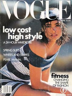 "When ""Vogue"" was a fashion years ago, Talisa Soto on the April 1989 cover. (Also one of my favorite covers ever."