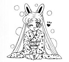 """Sailor Moon"" manga art by mangaka, Naoko Takeuchi."