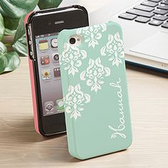LOVE these personalized phone cases! They're so pretty and girly! And the mint and coral are my favorite colors!