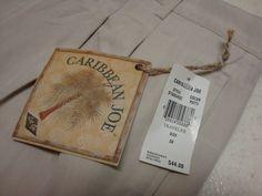 NWT Caribbean Joe Mens Pants 36 x 32 Mans Rayon PUTTY Khaki dress pant TRAVELER #CaribbeanJoe #rayon #ebay