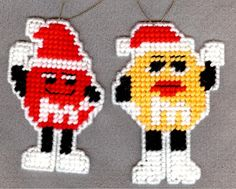 Free Christmas Plastic Canvas Patterns | characters Christmas ornaments plastic by patternoldies