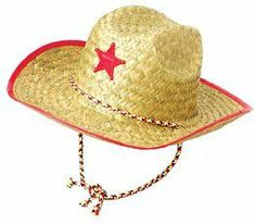 Child Cowboy Hat With Star by Fun. $10.68. The little buckaroos will love our Child's Cowboy Hat with Star. This child's cowboy hat is great for rodeos, western theme parties, and birthday parties.Border trim may vary (blue, natural, or red)Made out of straw