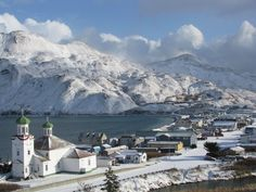 SNOW ON THE TOWN - photo of Dutch Harbor, Alaska