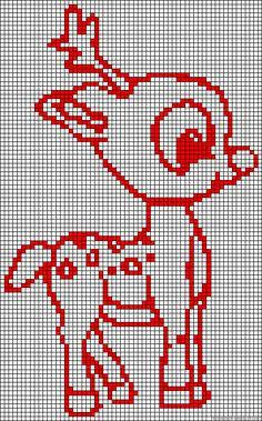 Christmas Rudolph perler bead pattern