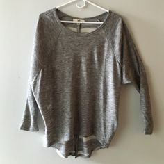 Ya LA Short/Long Sweater 60% cotton & 40% rayon Ya Los Angeles Sweaters Crew & Scoop Necks