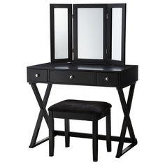 Makeup vanity with stool $175