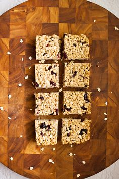 5 Healthy Snack Recipes by Three Kitcheneers // photos by Naomi Chokr // for The Everygirl // brown rice and cranberry chews