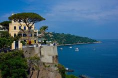 The most breathtaking views of Sorrento and Capri. Easy access to Pompei, Herculaneum and the entire Amalfi Coast The Places Youll Go, Places To Go, Sorrento Italy, Yellow Houses, Italian Villa, Italy Vacation, Amalfi Coast, Terrazzo, Vacation Rental Sites