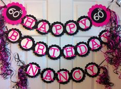 60th Birthday  Party Decorations Personalization