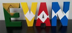 Power ranger happy birthday banner letters A-Z party