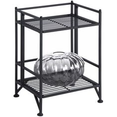 Convenience Concepts Designs2Go Metal Folding 2 Shelf Bookcase, Multiple Finishes