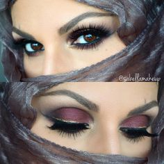 """Makeup and Beauty on Instagram: """"Eotd! @anastasiabeverlyhills single shadows in noir, orange soda, Sienna and hot chocolate, brow wiz in med brown and Brow gel in clear @motivescosmetics element box palette and LBD gel liner @nyxcosmetics crystal liner in crystal gold @hudabeauty @shophudabeauty Mink lashes in Sophia @makeupaddictioncosmetics brushes used to create this look!"""""""
