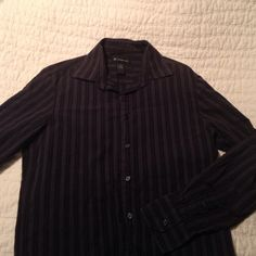 Men's Black Striped Button down Black striped button down. EUC Shirts Casual Button Down Shirts