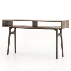 "Wesson Reclaimed Oak Wood Console Table 54""W x 16""D x 30""H $ 1631.00"