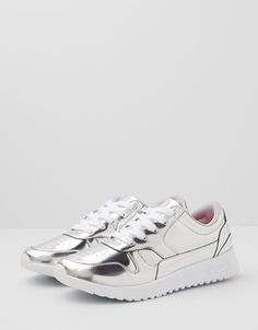 Bershka United Kingdom - BSK metallic running shoes
