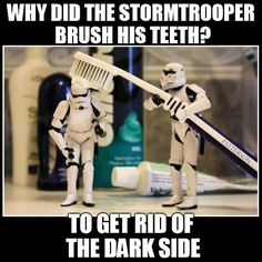 Yet another reason to avoid The Dark Side - bad for your teeth! #StarWars
