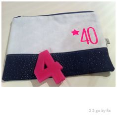 Happy 40 personalised pouch