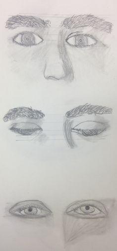 9 - Graphite - Self-Portrait Eye Drawings