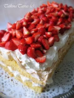 Food N, Food And Drink, Different Cakes, Pie Recipes, Cheesecake, Goodies, Strawberry, Sweets, Cooking