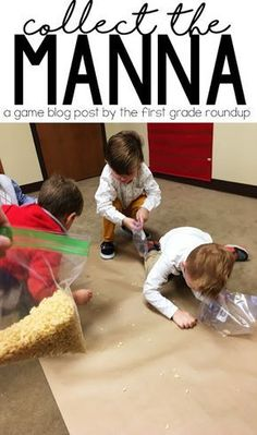 Collect the Manna Game - The perfect game during our Miracles Bible Unit!