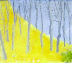 Wolf Kahn - Gray Sky - Gray-Trees 2011