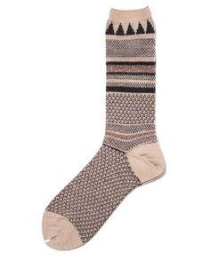 Socks - they are machine knit, but would be pretty simple to translate.  Love the patterns.