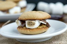 Happy #HumpDay eating - Peanut butter & #bourbon s'mores sandwich cookies