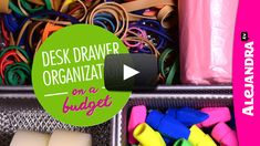 [VIDEO]: Desk Drawer Organization on a Budget (Part 3 of 4 Dollar Store Organizing) from -> http://www.alejandra.tv/blog/2015/02/video-desk-drawer-organization-budget-part-3-4-dollar-store-organizing/?utm_source=Pinterest&utm_medium=Pin&utm_content=DrawerBudgetPart4&utm_campaign=WeeklyVideo