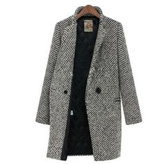 Damen Coat Wintermantel Warm
