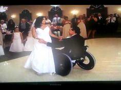 Wheelchair wedding dance