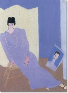 milton avery | Milton Avery - Sally Avery by Milton Avery | Painting
